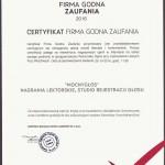 Certyfikat FGZ 001